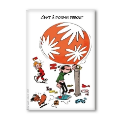 Decorative magnet Gaston Lagaffe, C'est à dormir debout (55x79mm)