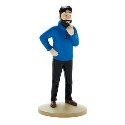 Collectible figurine Tintin, Haddock doubtful 13cm Nº02 (2011)