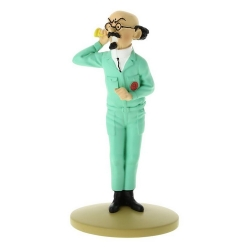 Collectible figurine Tintin, Calculus ear trumpet 12cm + Booklet Nº176 (2012)