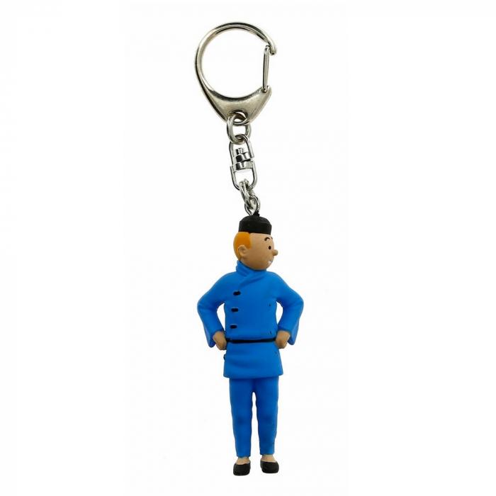 Porte-clés figurine Tintin en chinois 6cm Moulinsart 42465 (2011)