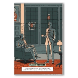 Decorative magnet Blake and Mortimer, Scream of Moloch, centaur club (55x79mm)
