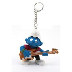 Llavero figura Schleich® Los Pitufos - El Pitufo Guitarrista (755722)