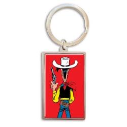 Porte-clés de collection Lucky Luke, prêt à tirer (3x5cm)