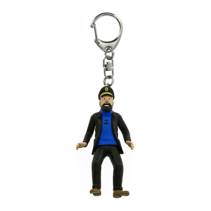Porte-clés figurine Tintin Le Capitaine Haddock 10cm Moulinsart 42425 (2010)