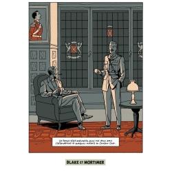 Postal de Blake y Mortimer: Grito del Moloch, club centauro (10x15cm)