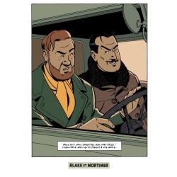 Postal de Blake y Mortimer: Grito del Moloch, Olrik y Mortimer (10x15cm)