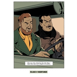Postcard Blake and Mortimer: Scream of Moloch, Olrik and Mortimer (10x15cm)