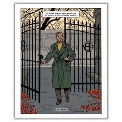 Póster cartel offset Blake y Mortimer: Grito del Moloch, Mortimer en la reja