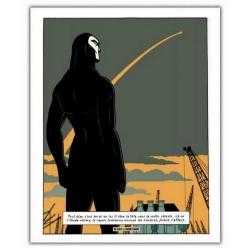 Póster cartel offset Blake y Mortimer: Grito del Moloch, rayo de luz (28x35,5cm)