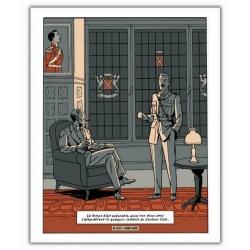 Póster cartel offset Blake y Mortimer: Grito del Moloch, club centauro (28x35,5)