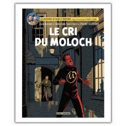 Poster affiche offset album de Blake et Mortimer, Le cri du Moloch (28x35,5cm)