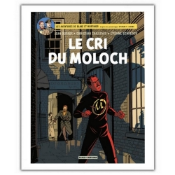 Poster affiche offset album de Blake et Mortimer, Le cri du Moloch (40x60cm)