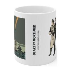 Ceramic mug Blake and Mortimer: Scream of Moloch, Olrik and the ray