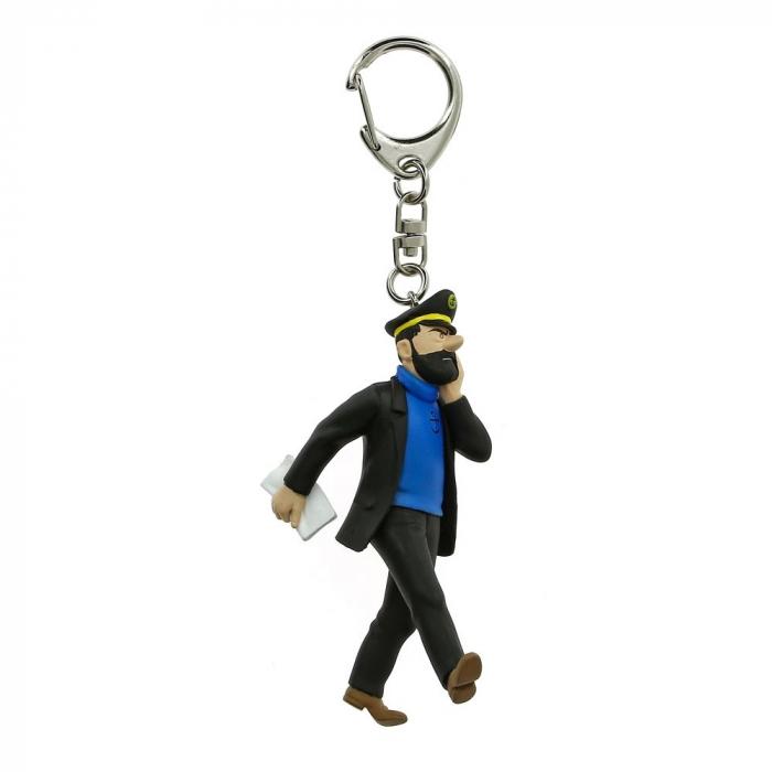 Porte-clés figurine Tintin Le Capitaine Haddock 10cm Moulinsart 42489 (2012)