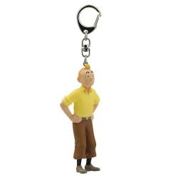 Llavero figura colección Moulinsart Tintín con jersey amarillo 6cm 42466 (2011)