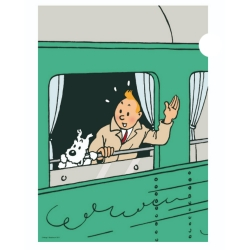 A4 Plastic Folder The Adventures of Tintin and Snowy in the train (15137)