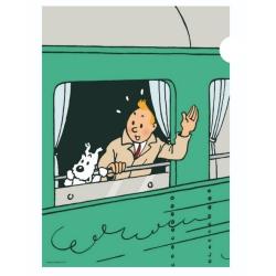 Carpeta dossier A4 Las aventuras de Tintín y Milú en el tren (15137)