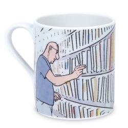 Taza mug en porcelana Moulinsart Moebius (Estantería de Libros)