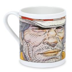Taza mug en porcelana Moulinsart Moebius (Jamais entendu de cette marque....)