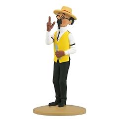 Collectible figurine Tintin, Calculus The Gardener 13cm + Booklet Nº28 (2012)