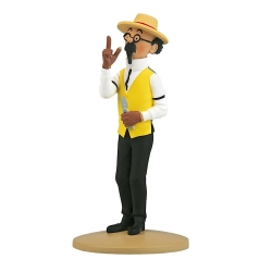 Figurine de collection Tintin, Tournesol en jardinier 13cm + Livret Nº28 (2012)