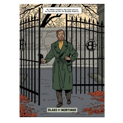 Decorative magnet Blake and Mortimer, Scream of Moloch, the gate (55x79mm)