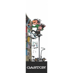 Paper Bookmark Gaston Lagaffe, in his library (50x170mm)