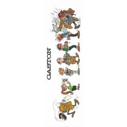 Marque-page en papier Gaston Lagaffe, les personnages (50x170mm)