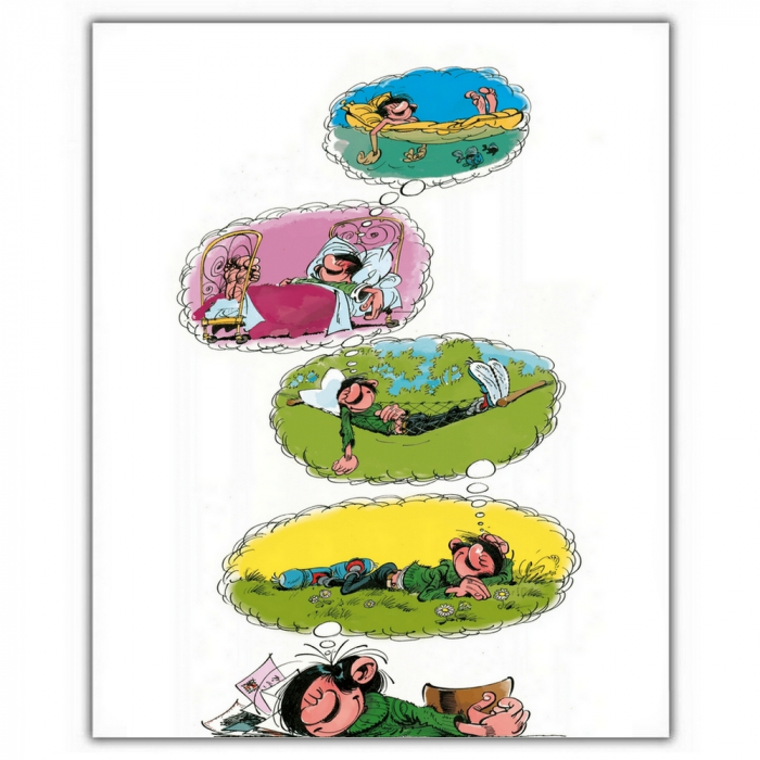 Poster offset Gaston Lagaffe, dreams (28x35,5cm)