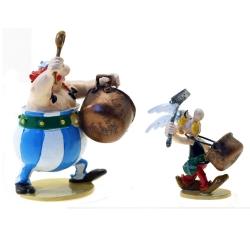 Figura de colección Pixi Asterix y Obelix con la batería de ollas 2358 (2021)