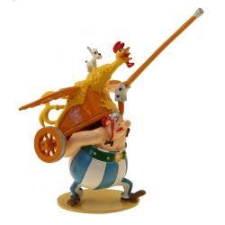 Figura de colección Pixi Asterix, Obélix llevando un carro y Ideafix 2361 (2021)