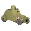 Coche de colección Tintín, el coche blindado ametralladora Nº42 1/24 (2020)