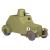 Collectible car Tintin, the Japanese armoured vehicle Nº42 1/24 (2020)