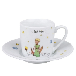 Könitz porcelain mug espresso cup and saucer The Little Prince (Secret EN)