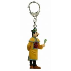 Porte-clés figurine Tintin Dupond éventail fermé 9cm Moulinsart 42396