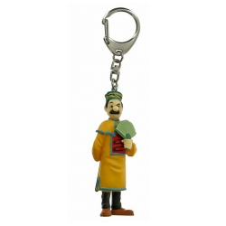 Porte-clés figurine Tintin Dupont éventail ouvert 8cm Moulinsart 42397 (2016)