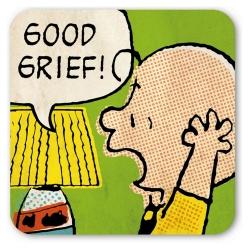 Charlie Brown Logoshirt® Coaster 10x10cm (Good Grief)