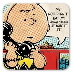 Sous-verre Logoshirt® Charlie Brown 10x10cm (Téléphone)