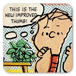 Linus Logoshirt® Coaster 10x10cm (New Improved Thumb)
