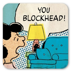 Lucy Logoshirt® Coaster 10x10cm (You Blockhead!)