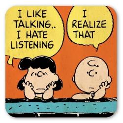 Sous-verre Logoshirt® Charlie Brown et Lucy 10x10cm