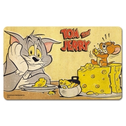 Breakfast Cutting Board Logoshirt® Tom and Jerry 23x14cm (Cheese)