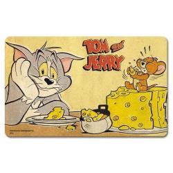 Breakfast Cutting Board Logoshirt® Tom and Jerry 23x14cm (Cheese)
