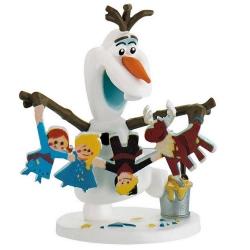 Figurita de colección Bully® Disney Frozen, Olaf con guirnalda (12943)