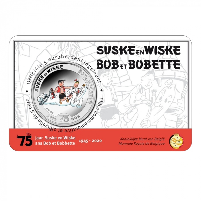 Commemorative coin 5 € Belgium Luke and Lucy 75 Years Colour BU (2020)