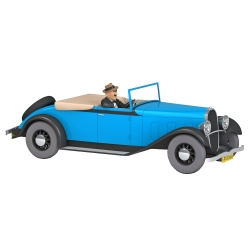 Voiture de collection Tintin, la décapotable de Gibbons Nº46 1/24 (2021)