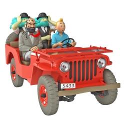 Collectible car Tintin, the desert Jeep Willys MB 1943 Nº47 1/24 (2021)