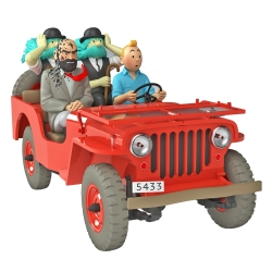 Voiture de collection Tintin, la Jeep Willys MB 1943 du désert Nº47 1/24 (2021)