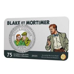 Moneda conmemorativa 5 € Bélgica Blake y Mortimer 75 años Color BU (2021)