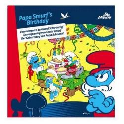 Juego de mesa Puppy Los Pitufos, el cumpleaños de Papá Pitufo (755216)